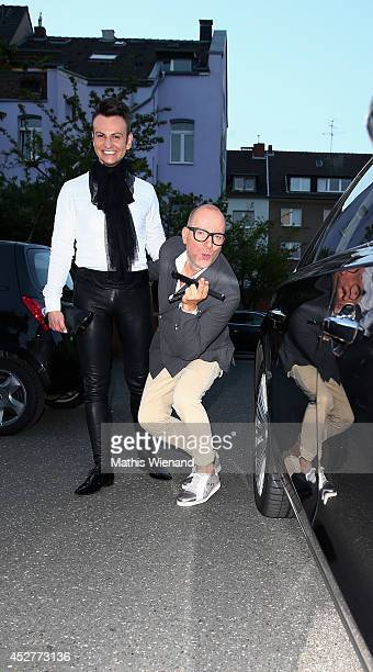 Oswald Musielski and Thomas Rath attend the Van Laack Show at Platform Fashion on July 26 2014 in Duesseldorf Germany