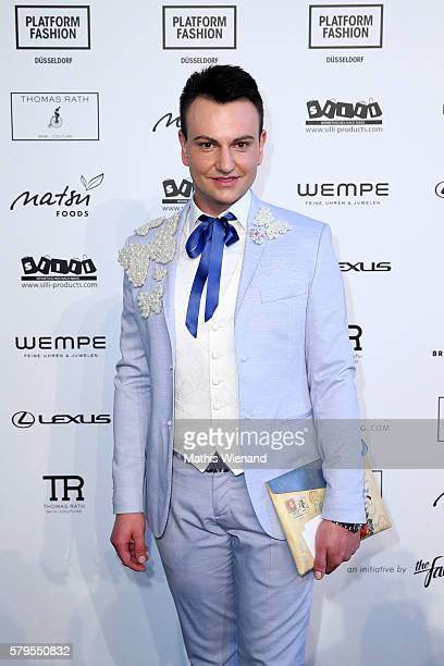 Oswald Musielski attends the Thomas Rath show during Platform Fashion July 2016 at Areal Boehler on July 24 2016 in Duesseldorf Germany