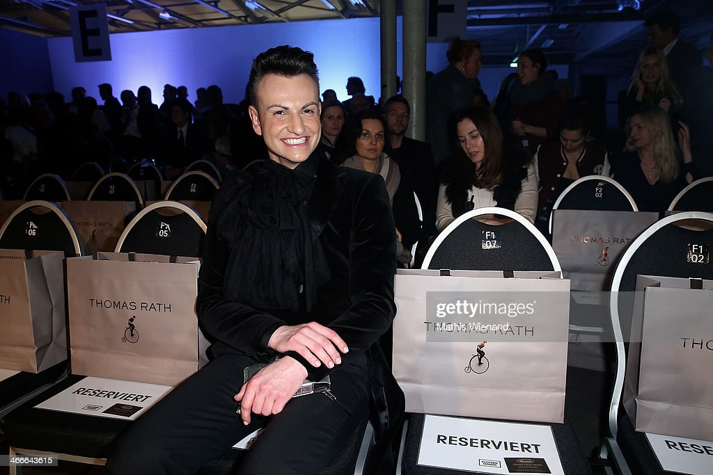 Oswald Nusielski attends the Thomas Rath fashion show during Platform Fashion Dusseldorf on February 2, 2014 in Dusseldorf, Germany.