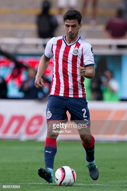 Oswaldo Alanis of Chivas drives the ball during the 11th round match between Chivas and Lobos BUAP as part of the Torneo Apertura 2017 Liga MX at...