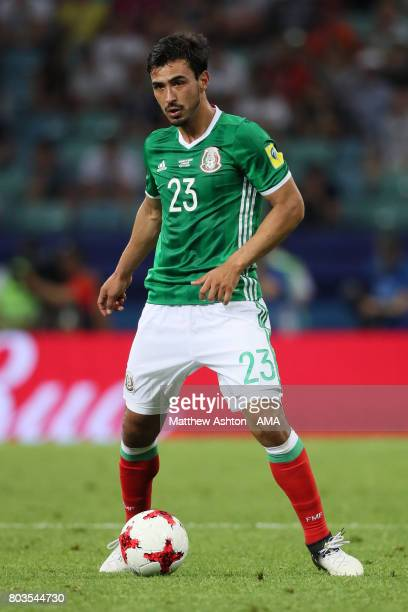 Oswaldo Alanis of Mexico in action during the FIFA Confederations Cup Russia 2017 SemiFinal match between Germany and Mexico at Fisht Olympic Stadium...