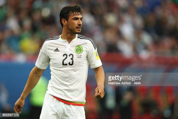 Oswaldo Alanis of Mexico looks on during the FIFA Confederations Cup Russia 2017 Group A match between Mexico and Russia at Kazan Arena on June 24...