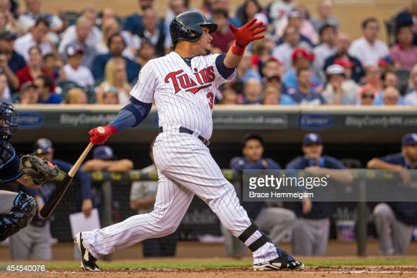 Oswaldo Arcia of the Minnesota Twins against the Tampa Bay Rays on July 18 2014 at Target Field in Minneapolis Minnesota The Rays defeated the Twins...