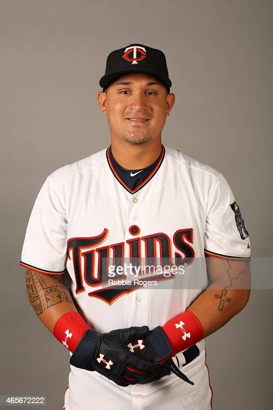 Oswaldo Arcia of the Minnesota Twins poses during Photo Day on Tuesday March 3 2015 at Hammond Stadium in Fort Myers Florida