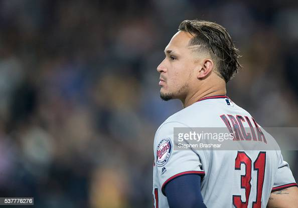 Oswaldo Arcia of the Minnesota Twins stands on the field before a game against the Seattle Mariners at Safeco Field on May 27 2016 in Seattle...