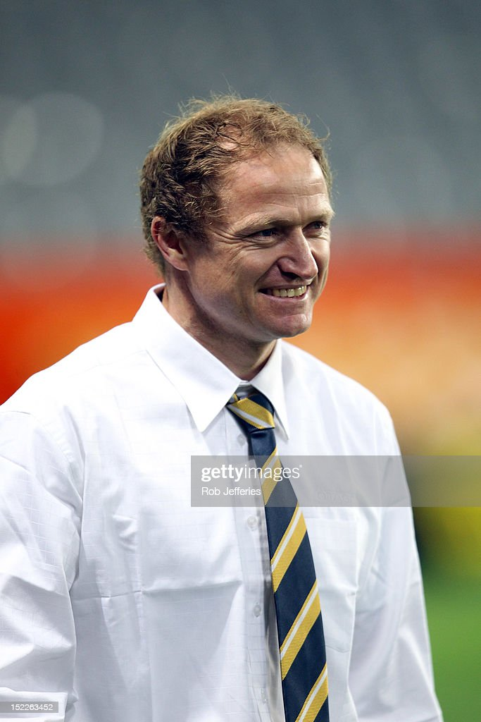Otago coach Tony Brown prior to the round eight ITM Cup match between Otago and North Harbour at Forsyth Barr Stadium on September 18, 2012 in Dunedin, New Zealand.