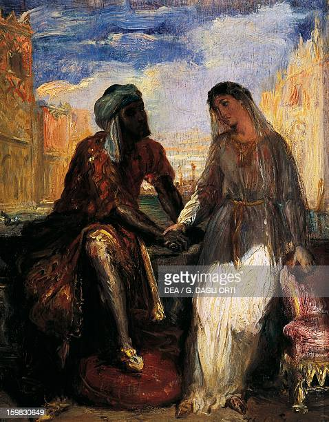 Othello and Desdemona in Venice scene from Otello by William Shakespeare oil by Theodore Chasseriau 1850 Paris Musée Du Louvre