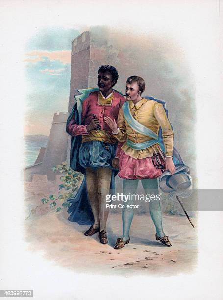 'Othello and Iago' 1891 Characters from The Moor of Venice A colour lithograph from Shakespeare's Heroes and Heroines after Sir A Callcott C R Leslie...