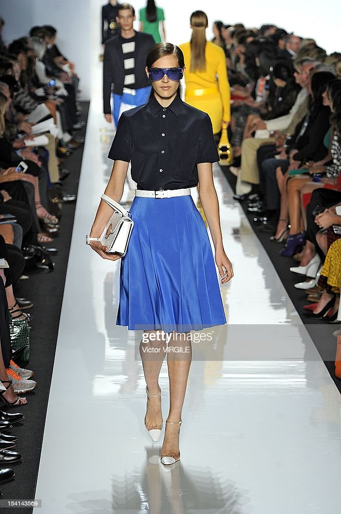 Othilia Simon walks the runway at the Michael Kors Spring Summer 2013 fashion show during New York Fashion Week at The Theatre Lincoln Center on September 12, 2012 in New York, United States.