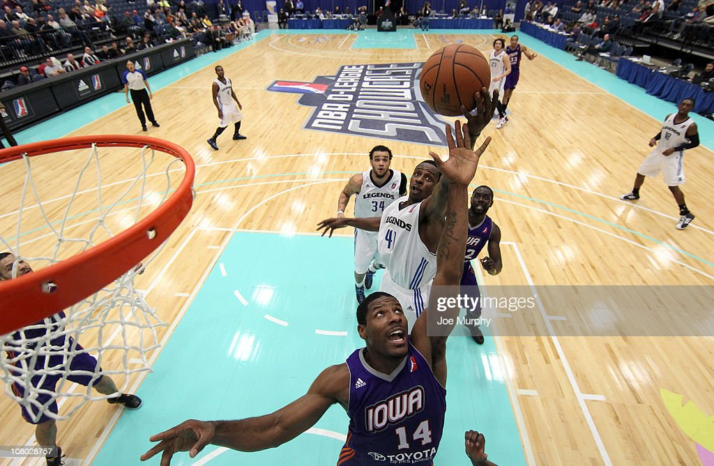 Othyus Jeffers #14 of the Iowa Energy shoots the ball against the Texas Legends during the 2011 NBA D-League Showcase on January 13, 2011 at the South Padre Island Convention Center in South Padre Island, Texas.