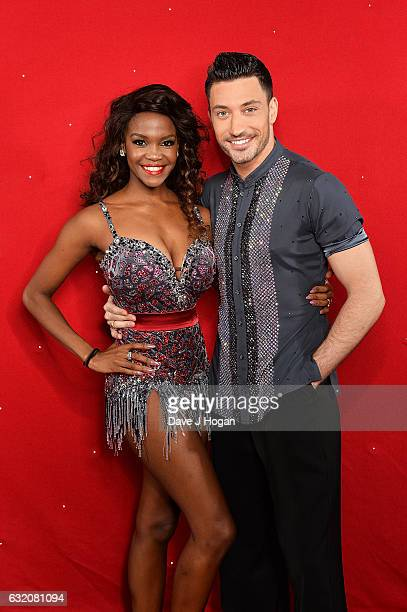 Oti Mabuse and Giovanni Pernice attend the photocall for the 'Strictly Come Dancing' live tour at the Barclaycard Arena on January 19 2017 in...