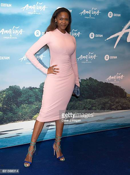 Oti Mabuse attends the blue carpet of the Cirque du Soleil Amaluna press night on January 12 2017 in London United Kingdom