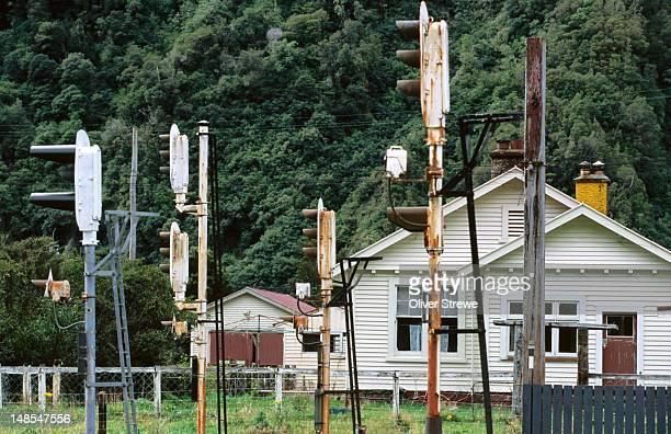Otira railway lights.