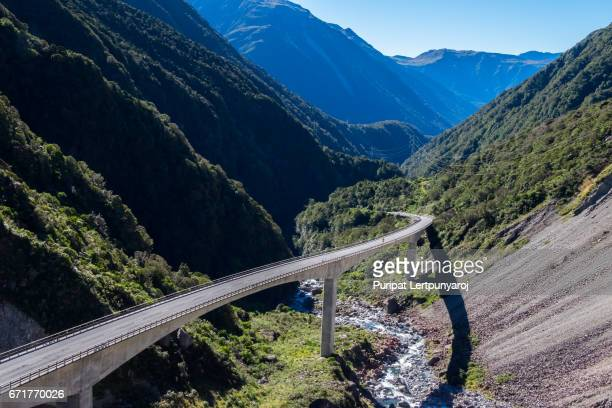 Otira Viaduct Lookout is located in Arthur's Pass National Park, South Island of New Zealand
