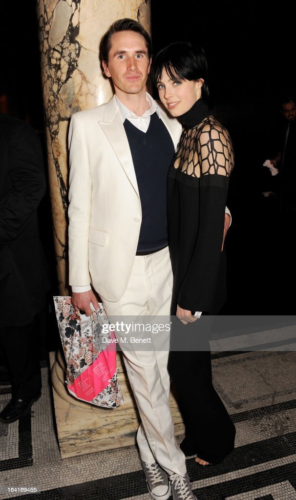 <a gi-track='captionPersonalityLinkClicked' href=/galleries/search?phrase=Otis+Ferry&family=editorial&specificpeople=178981 ng-click='$event.stopPropagation()'>Otis Ferry</a> (L) and Edie Campbell attend the private view for the 'David Bowie Is' exhibition in partnership with Gucci and Sennheiser at the Victoria and Albert Museum on March 20, 2013 in London, England.