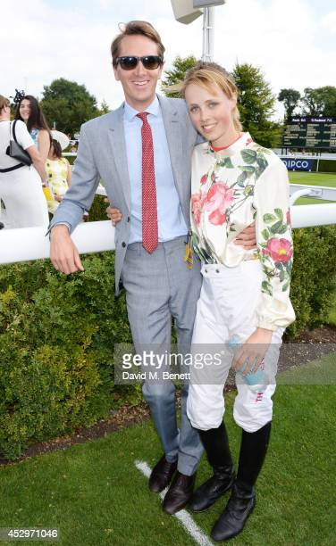 Otis Ferry and Magnolia Cup winner Edie Campbell attend Glorious Goodwood Ladies Day at Goodwood on July 31 2014 in Chichester England