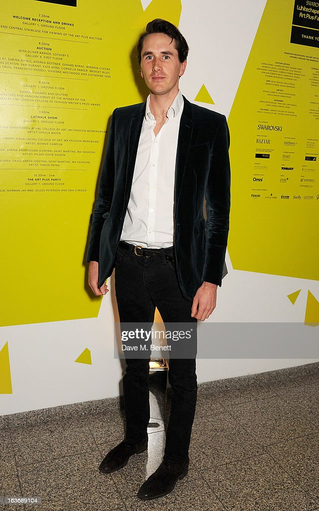 <a gi-track='captionPersonalityLinkClicked' href=/galleries/search?phrase=Otis+Ferry&family=editorial&specificpeople=178981 ng-click='$event.stopPropagation()'>Otis Ferry</a> attends the Swarovski Whitechapel Gallery Art Plus Fashion fundraising gala in support of the gallery's education fund at The Whitechapel Gallery on March 14, 2013 in London, England.