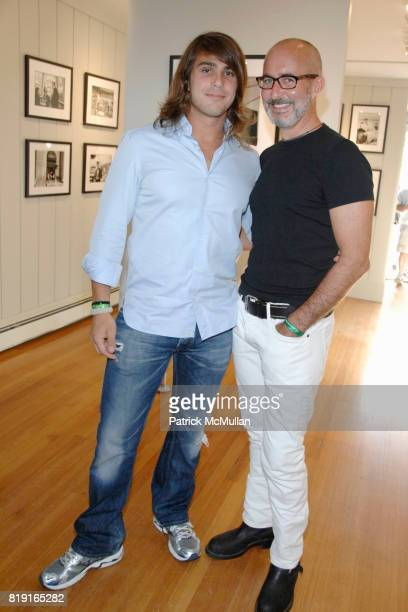 Otis Mallia and Tim O'Brien attend Opening Reception for JOHN JONAS GRUEN at Gallery B on July 17 2010 in Sag Harbor NY