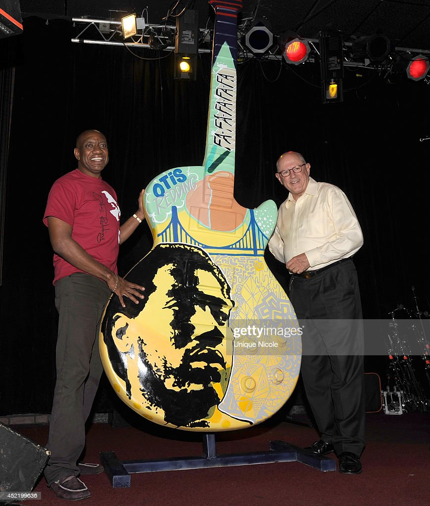<a gi-track='captionPersonalityLinkClicked' href=/galleries/search?phrase=Otis+Redding&family=editorial&specificpeople=892053 ng-click='$event.stopPropagation()'>Otis Redding</a> III and CEO Alex Hodges attend special art guitar tribute to Grammy Lifetime Achievement Award recipient and Rock and Roll Hall of Famer <a gi-track='captionPersonalityLinkClicked' href=/galleries/search?phrase=Otis+Redding&family=editorial&specificpeople=892053 ng-click='$event.stopPropagation()'>Otis Redding</a> at The Whiskey A Go Go on July 15, 2014 in West Hollywood, California.