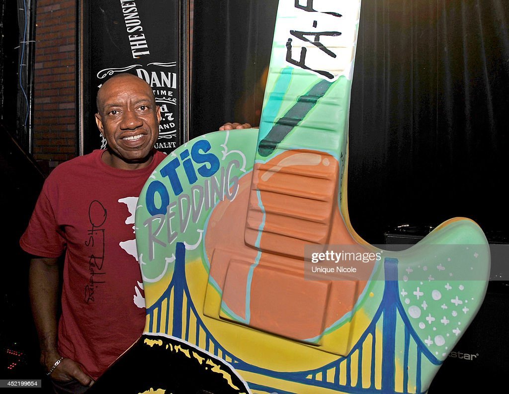 Otis Redding III attends special art guitar tribute to Grammy Lifetime Achievement Award recipient and Rock and Roll Hall of Famer Otis Redding at The Whiskey A Go Go on July 15, 2014 in West Hollywood, California.