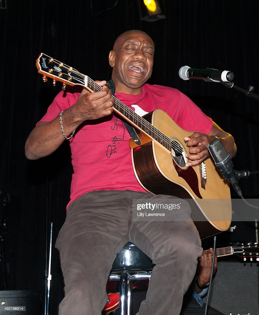 Otis Redding III performs onstage at the Sunset Strip art guitar tribute to Otis Redding atThe Whiskey A Go Go on July 15, 2014 in West Hollywood, California.