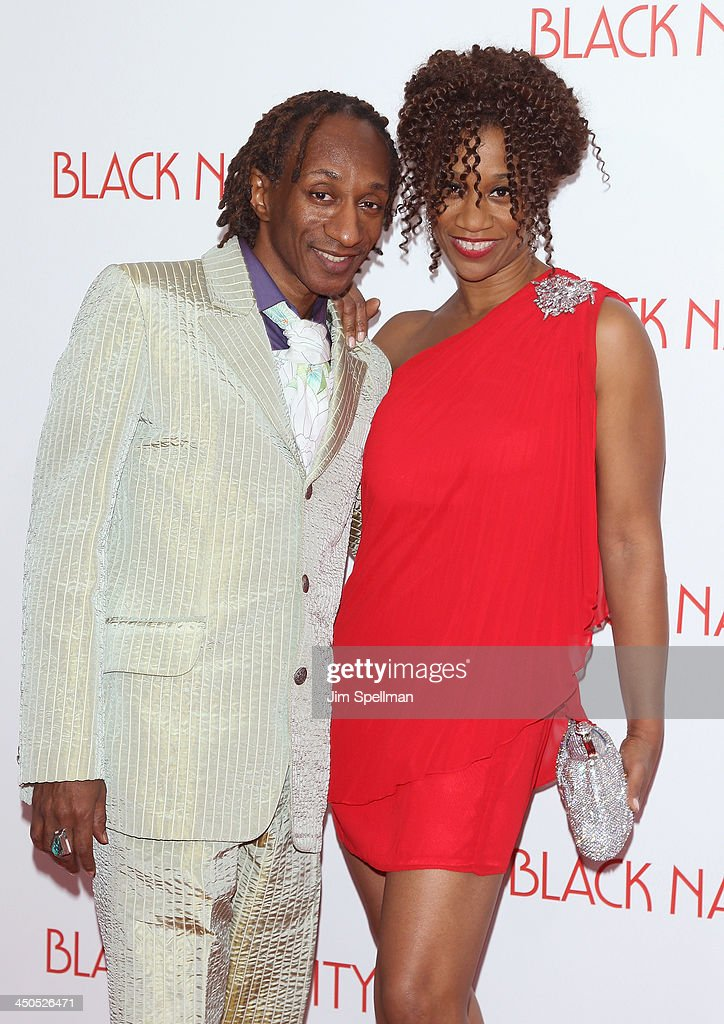 Otis Sallid and Judine Somerville attends the 'Black Nativity' premiere at The Apollo Theater on November 18, 2013 in New York City.