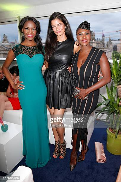 Otlile Mabuse Motsi Mabuse and Shermine Shahrivar attend the Bertelsmann Summer Party on June 18 2015 in Berlin Germany