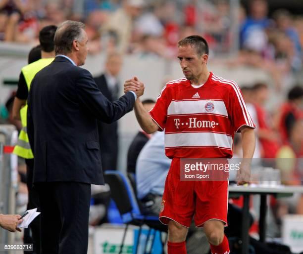 Otmar HITZFELD / Franck RIBERY Bayern Munich / Werder breme 1/4 finale Coupe de la Ligue Allemagne