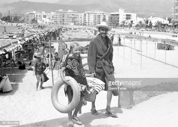 Oto of Habsburg son of Charles I last emperor of Austria and Zita BorbonParma during a vacation in Benidorm with his children Comunidad Valenciana...
