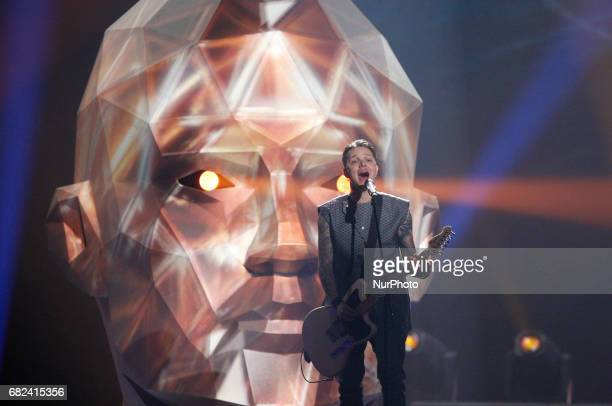 OTorvald from Ukraine performs with the song quotTimequotduring the rehearsal for the Grand Final of the Eurovision Song Contest in Kiev Ukraine 12...