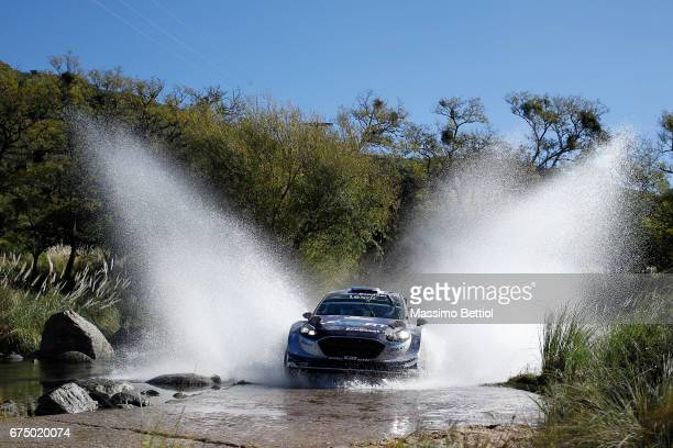 Ott Tanak of Estonia ad Martin Jarveoja of Estonia compete in their MSport WRT Ford Fiesta WRC during Day Two of the WRC Argentina on April 29 2017...