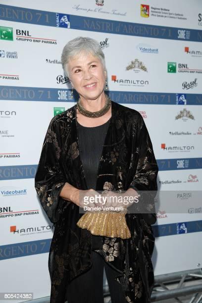 Ottavia Piccolo attends Nastri D'Argento 2017 Awards Ceremony on July 1 2017 in Taormina Italy
