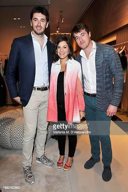 Ottavio Missoni Margherita Missoni and Giacomo Missoni attend 'ZigZagging' Angela Missoni and Patricia Urquiola New Concept as part of 2013 Milan...