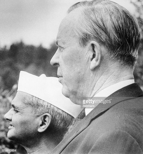 Indian Prime Minister Lal Bahadur Shastri who died January 10 is shown with Prime Minister Lester B Pearson during a visit to Ottawa June 1965