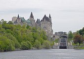 Ottawa Rideau Canal Locks with Chateau Laurier in the background