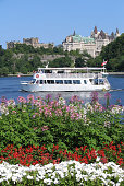 Ottawa River, Château Laurier, tourists boat