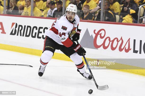 Ottawa Senators center JeanGabriel Pageau moves the puck during the first period The Pittsburgh Penguins won Game Seven 32 in double overtime of the...