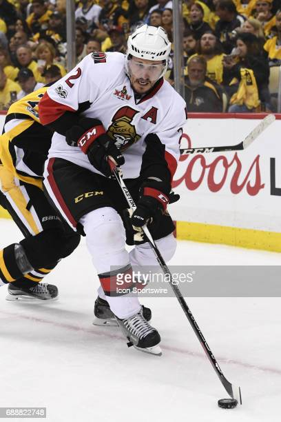 Ottawa Senators defenseman Dion Phaneuf moves the puck during the second period The Pittsburgh Penguins won Game Seven of the Eastern Conference...