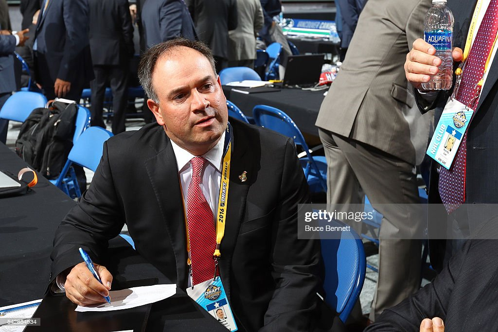 Ottawa Senators General Manager Pierre Dorian attends round one of the 2016 NHL Draft on June 24, 2016 in Buffalo, New York.