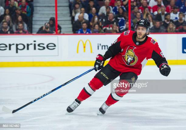 Ottawa Senators Left Wing Mike Hoffman skates during the NHL game between the Ottawa Senators and the Toronto Maple Leafs on October 21 2017 at the...