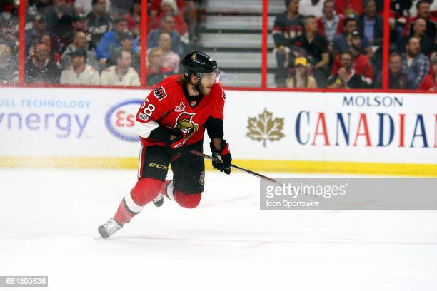 Ottawa Senators Right Wing Mike Hoffman stops hard and head back to the Ottawa end during the first period of Game 3 of the Eastern Conference Finals...