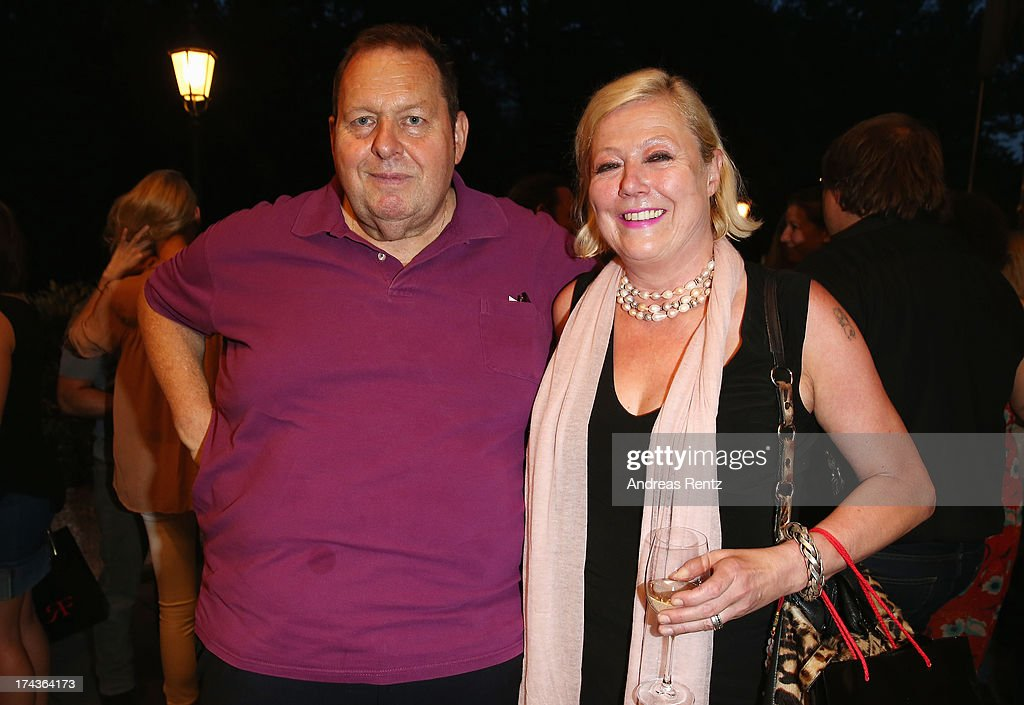 Ottfried Fischer and Susanne Wiebe attend the Marcel Ostertag fashion show at Charles Hotel on July 24, 2013 in Munich, Germany.