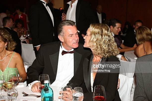 Ottmar Hitzfeld and his wife Beatrix In 24th German Sportpresseball On In The Old Opera House in Frankfurt 291005