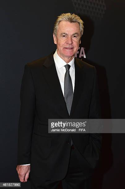 Ottmar Hitzfeld arrives for the FIFA Ballon d'Or Gala 2014 at the Kongresshaus on January 12 2015 in Zurich Switzerland