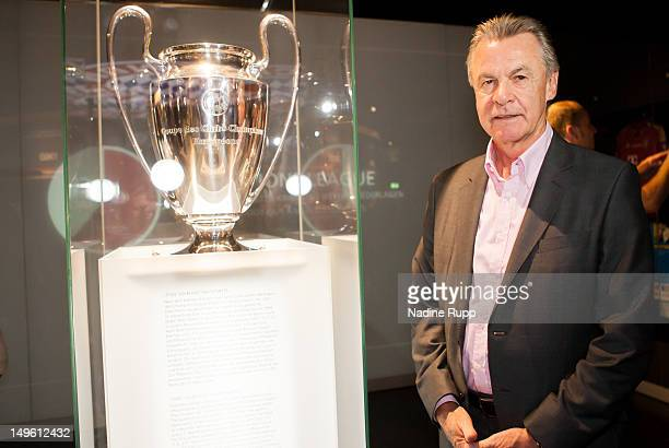 Ottmar Hitzfeld attends the FC Bayern Erlebniswelt Opening Ceremony at Allianz Arena on August 1 2012 in Munich Germany
