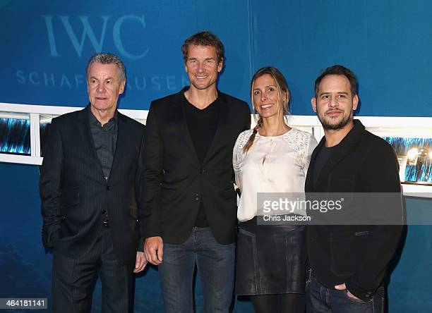 Ottmar Hitzfeld Jens Lehmann with his wife Conny and Moritz Bleibtreu visit the IWC booth during the Salon International de la Haute Horlogerie 2014...