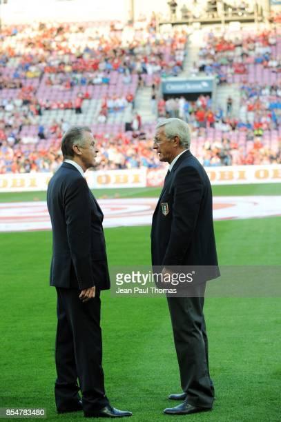 Ottmar HITZFELD Marcello LIPPI Suisse / Italie Match de preparation Coupe du Monde 2010 Stade de Geneve
