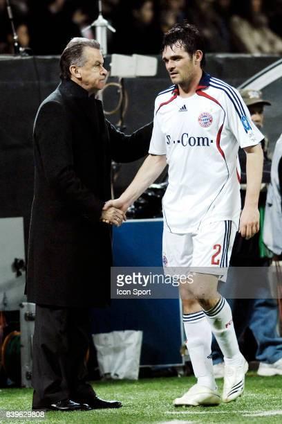 Ottmar HITZFELD / Willy SAGNOL Milan Ac / Bayern de Munich 1/4 de Finale Champions League