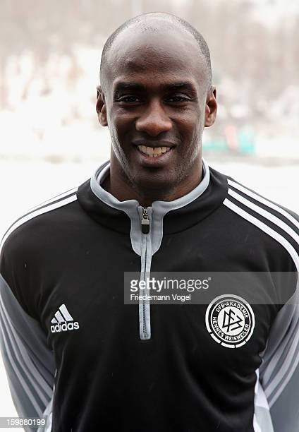 Otto Addo poses during DFB coaching and technical development course at Sport School Hennef on January 22 2013 in Hennef Germany