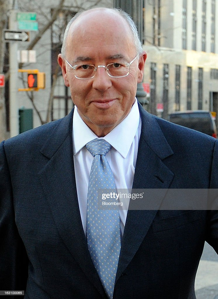 Otto Bruderer, managing director of Wegelin & Co., arrives at U.S. federal court in New York, U.S. on Monday, March 4, 2013. Wegelin & Co., Switzerland's oldest private bank, may pay U.S. authorities as much as $74 million after pleading guilty to helping American taxpayers hide assets from the Internal Revenue Service. Photographer: Louis Lanzano/Bloomberg via Getty Images